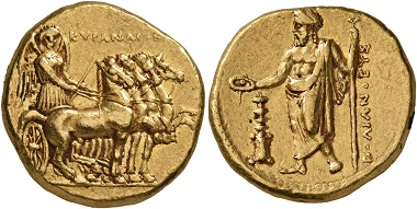Kyrene. Stater, Magistrat: Polianthes, 322-313 v. Chr. (AV, 19 mm, 8,65 g, 11 h). Naville 1951, Nr. 99.
