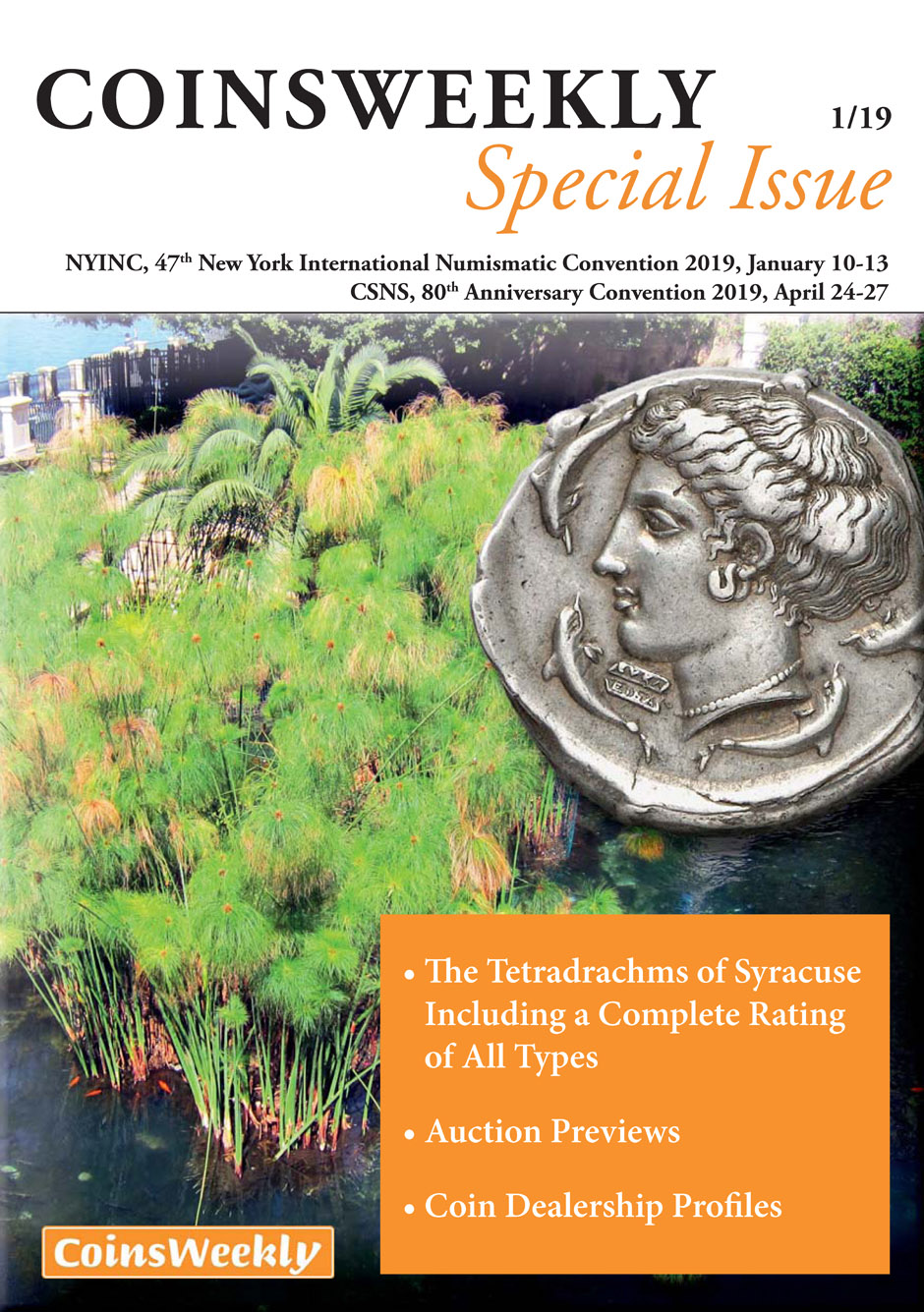 MünzenWoche Spezial, 1/19, Coins Weekly Special NYINC/ CSNS, The Tetradrachms of Syracus including a complete rating of all types